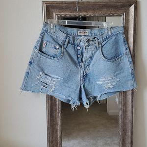 Vintage GUESS high waist jean shorts